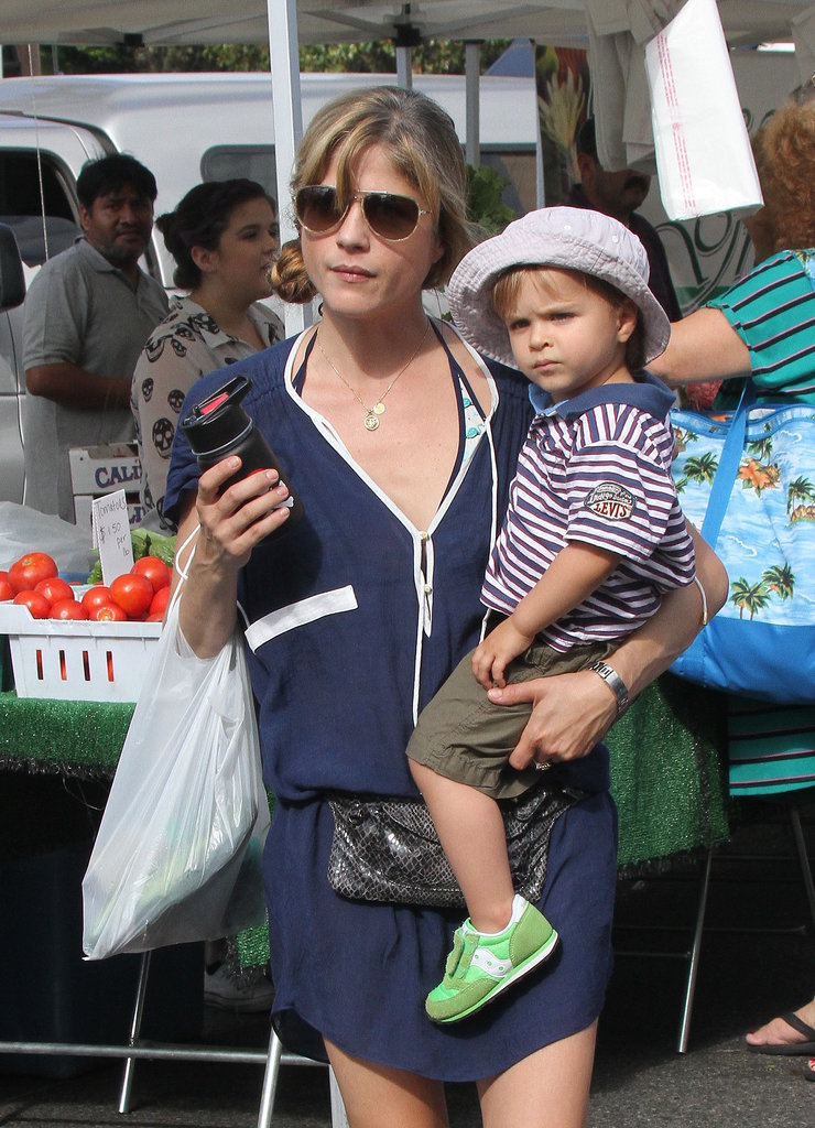 Selma Blair and her son, Arthur Bleick, went to a farmers market in LA on Saturday.