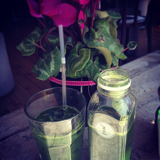 Jesinta Campbell enjoying an afternoon green juice, courtesy of Pressed Juices! Source: Instagram user jesinta_campbell