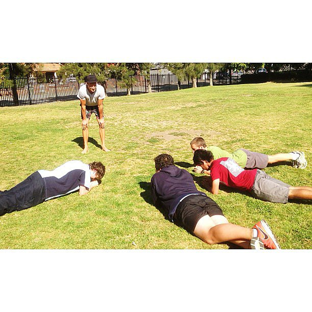 Bondi PT, Luke has been getting active with schools this week. Source: Instagram user trainer_luke