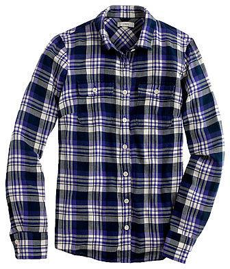 Acropolis blue plaid flannel shirt