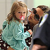 Victoria Beckham and Harper Beckham in NYC
