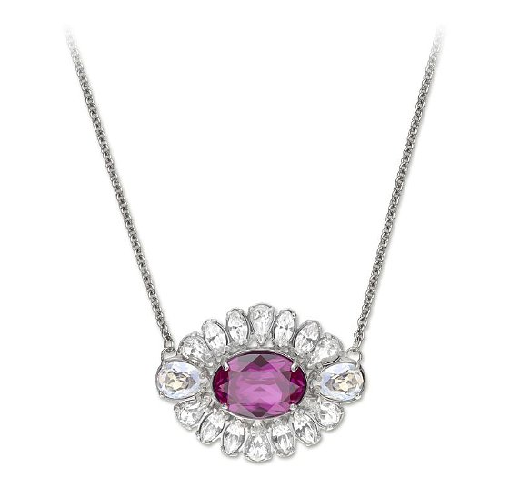Embrace your girlie side in this flower-like two-tone necklace ($125).