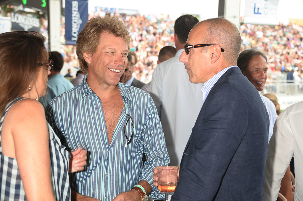 Jon Bon Jovi chatted with Matt Lauer in the Hamptons.