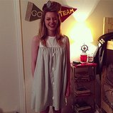 Gillian Jacobs looked adorable in her Rachel Antonoff shift (not to mention her soda-can curler!).  Source: Instagram user gillianjacobs