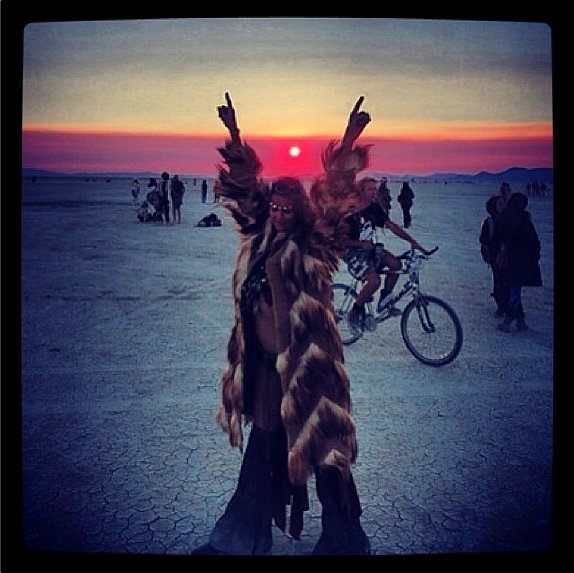 How'd you spend your weekend? Stacy Keibler spent it getting into the rock 'n' roll spirit at Burning Man.  Source: Instagram user stacykeibler