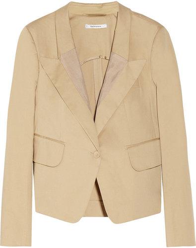 Carven Stretch-cotton gabardine blazer