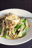 Warm Artichoke and Mushroom Salad