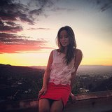 Jamie Chung enjoyed the LA sunset. Source: Instagram user jaimejchung