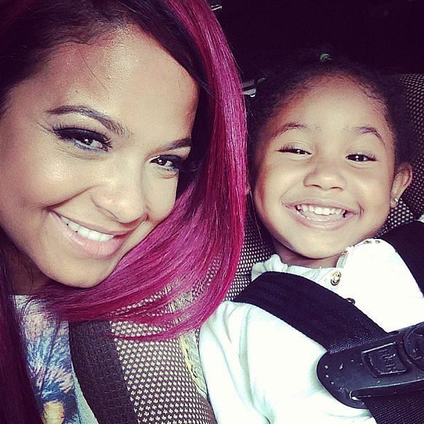 Christina Milian shared this sweet snap with her daughter, Violet. Source: Instagram user christinamilian