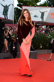 Elisa Sednaoui covered up in a colorblocked Stella McCartney gown for the Under the Skin premiere.