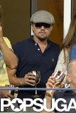 Leonardo DiCaprio kept a low profile in the Moet & Chandon suite.