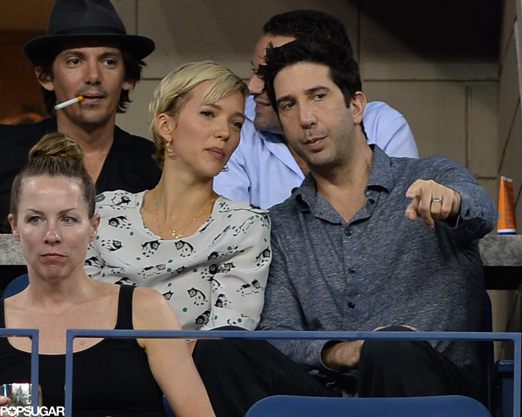 David Schwimmer sat in front of Lukas Haas.