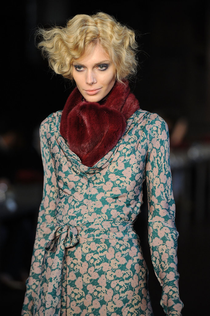The '30s provided the inspiration for the fluffy bobbed curls worn by L'Wren Scott's models for Autumn/Winter 2012.