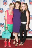 Touchdown! Julie Macklowe, Anne Vincent, and Elizabeth Petersen scored an invite to Vogue's NFL event.