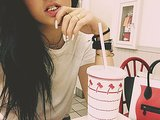 Kylie Jenner wore her flashy teeth to In-N-Out. Source: Instagram user kyliejenner