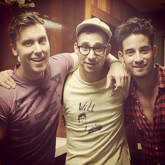 Lance Bass and his new fiancé, Michael Turchin, met up with Jack Antonoff in New Orleans. Source: Instagram user lancebass