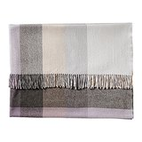 Made from barely there baby alpaca fleece, this plaid throw ($128) is a beautiful mix of soft lilacs and shades of gray.