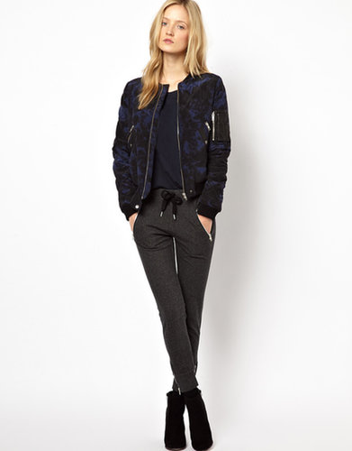 The Kooples Sport Jogging Pants with Zip Pocket Detail in Charcoal