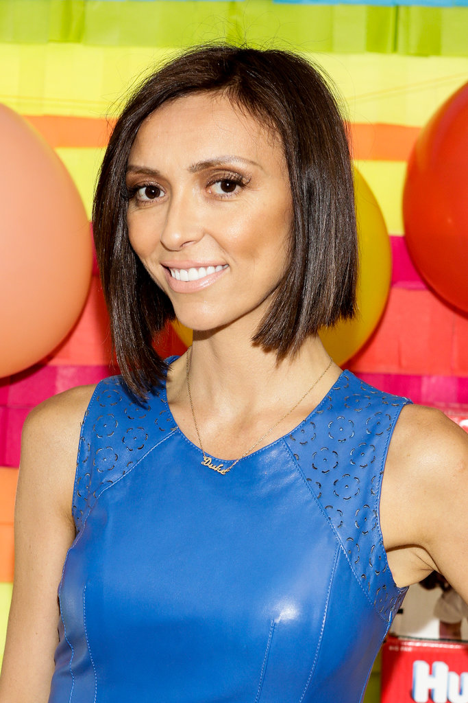 Giuliana Rancic debuted her lob at the Oscars this year but has updated the style for the new season One side of her now-bob is as long as it was originally, while the other side falls right underneath her chin, making for a sexy asymmetrical look.