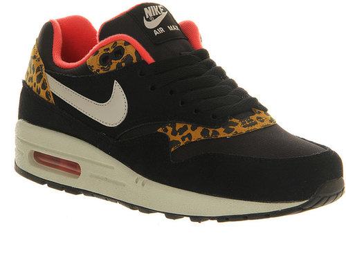 Nike Air Max 1 (L) Black Gold Leopard - Hers Trainers