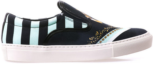 Mother Of Pearl Gun-print slip-on trainers