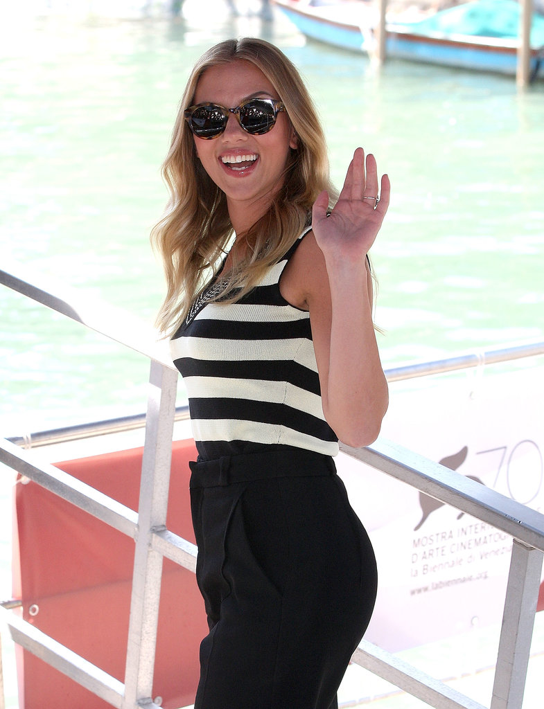 Scarlett Johansson arrived at the Venice Film Festival.