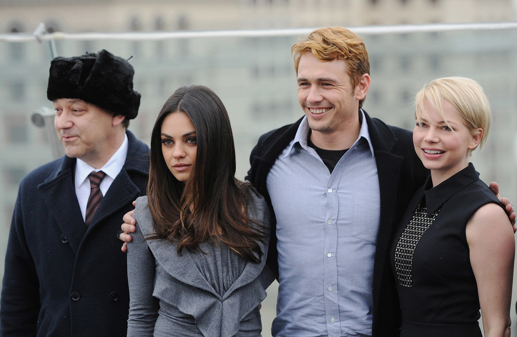 Michelle Williams, James Franco, and Mila Kunis attended the Moscow premiere of Oz the Great and Powerful in February 2013.