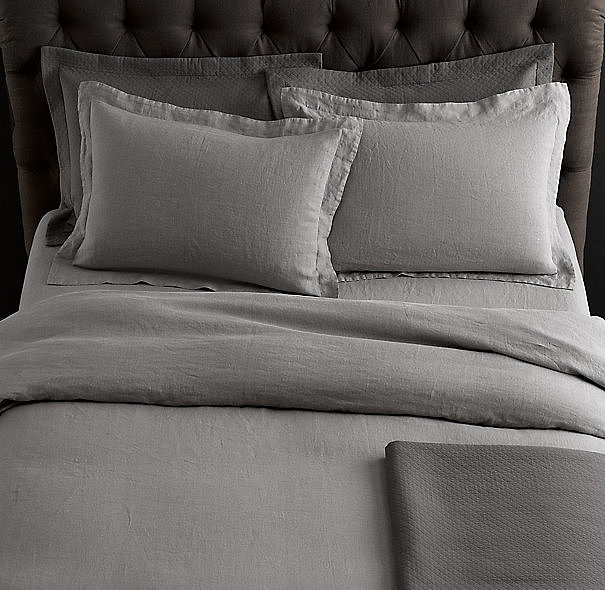 Made from Belgian flax and stonewashed for softness, this linen bedding ($36-$279, originally $59-$279) looks casual, but it is pure luxury.