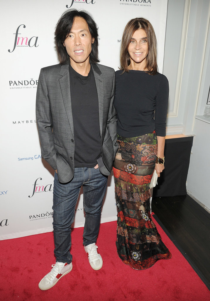 Stephen Gan joined Carine Roitfeld on The Daily Front Row's red carpet.