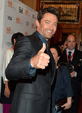 Hugh Jackman gave a thumbs up.
