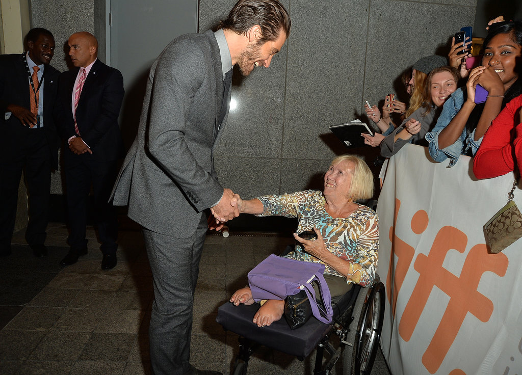 Jake Gyllenhaal met a fan.
