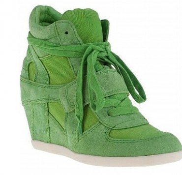ASH GREEN COOL WEDGE SNEAKERS IN SUEDE