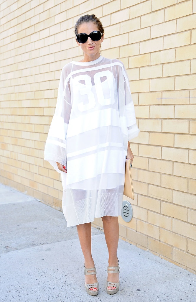 This jersey is more ethereal than sporty in a sheer white finish.
