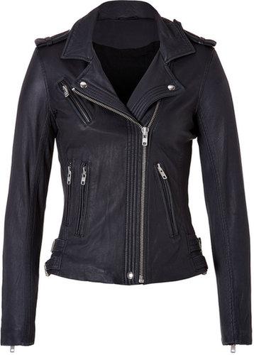 Iro Leather Jacket in Navy