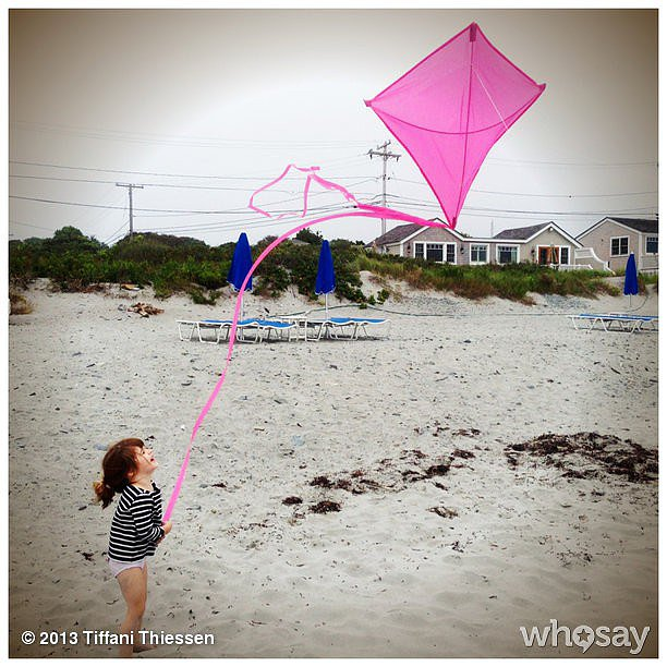 There was kite-flying weather during Harper Smith's vacation in Rhode Island.  Source: Instagram user tathiessen