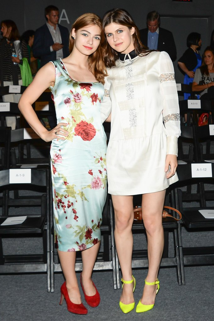 Catharine Daddario and Alexandra Daddario brightened up Marissa Webb's front row.