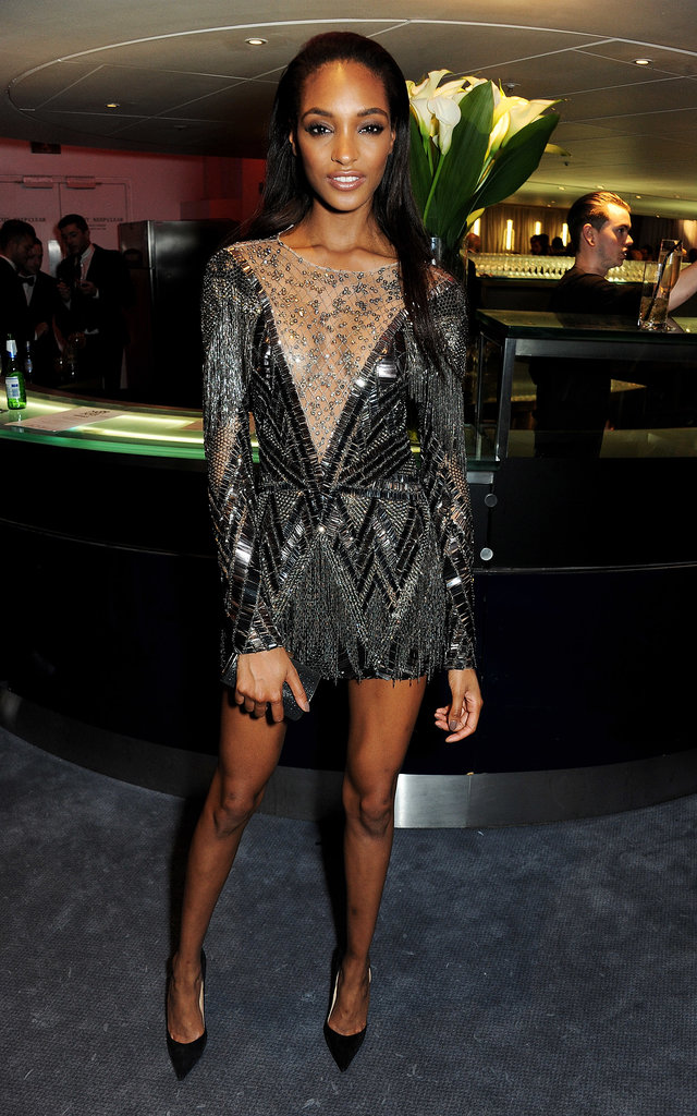 Jourdan Dunn's embellished minidress was ready to rage at the GQ Men of the Year Awards in London.