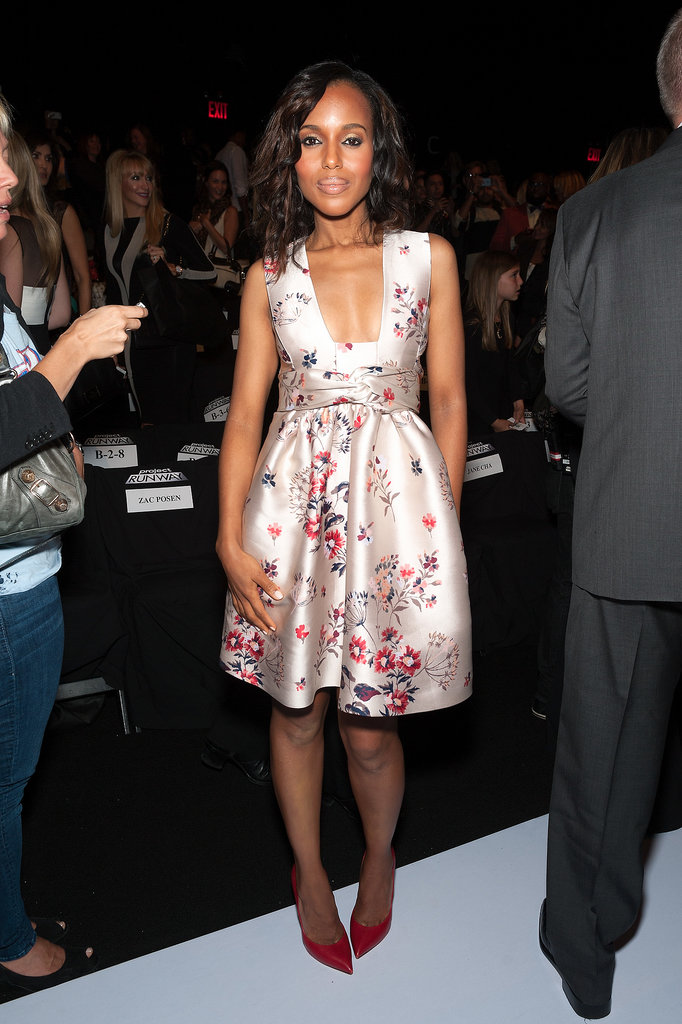 Kerry Washington posed in the front row.