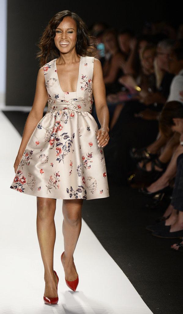 Kerry Washington walked the runway at the Project Runway finale fashion show.