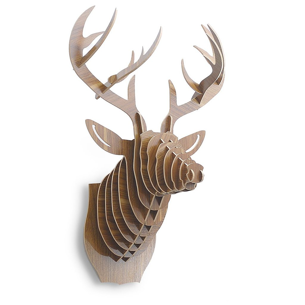 Keep with the cabin's rustic interior while adding a modern touch thanks to this 3D faux deer head ($131, originally $181).