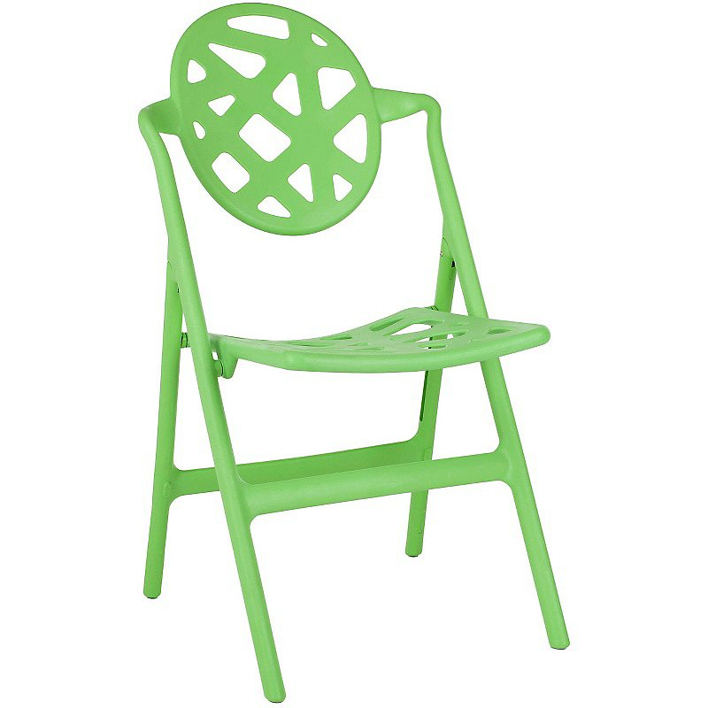 This isn't your average folding chair ($360), that's for sure, thanks to its sphere-shaped back with a cut-out design.