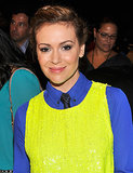 Alyssa Milano at the Project Runway Spring 2014 fashion show.