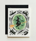 Inspired by The Wizard of Oz, this Witch of the West card ($5) is a keepsake.