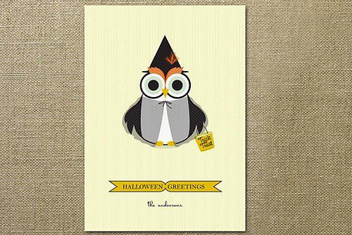 You didn't think we'd leave out an owl-o-ween card ($60 for 25), did you?
