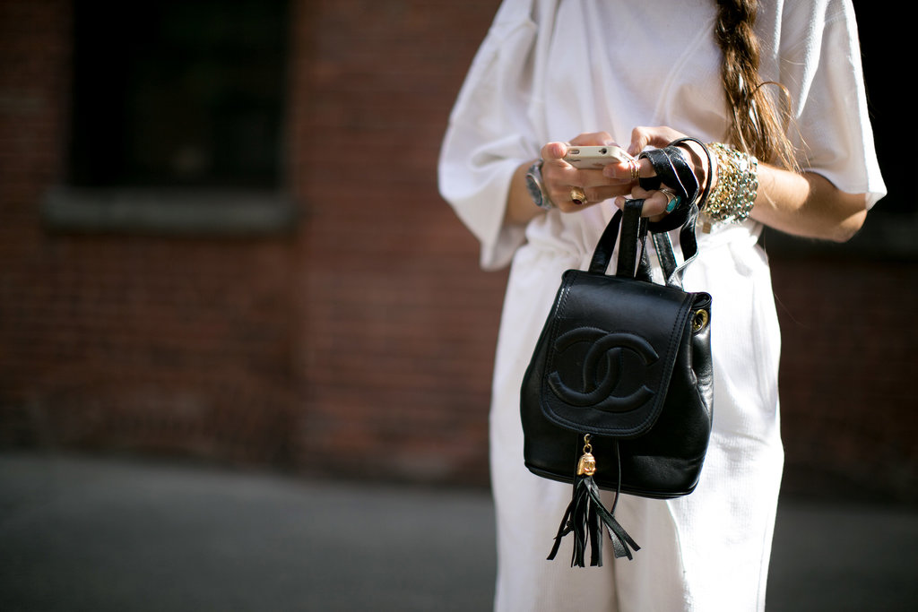 When you're toting a tassled Chanel backpack, you can keep the rest simple.