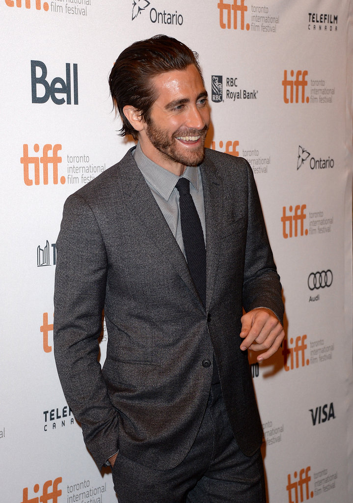 Jake had a laugh on the arrivals carpet.