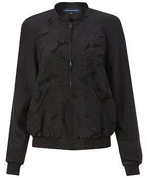 French Connection T-petal bomb zip thru jacket