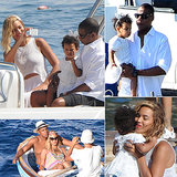 Beyoncé, Jay Z, and Blue Have Their Own Personal White Party