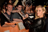 Reese Witherspoon signed autographs for fans.