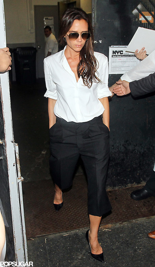 Victoria Beckham went to Balthazar after her show.
